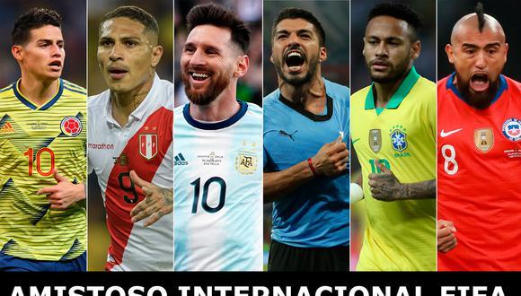 Este jueves comienzan una serie de partidos amistosos FIFA 2019 como preparación par las Eliminatorias Catar 2022 y la Copa América 2020.