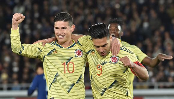 Colombia venció con gol de Radamel Falcao. (Foto: AFP)