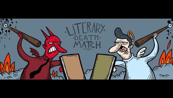 Ilustración del artista chileno Alberto Montt para Literary Death Match.