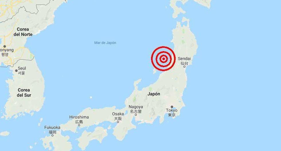 El movimiento sísmico tuvo lugar cerca de la región de Nigata. (Captura)