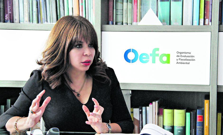 Tessy Torres preside el OEFA desde hace poco más de dos años.