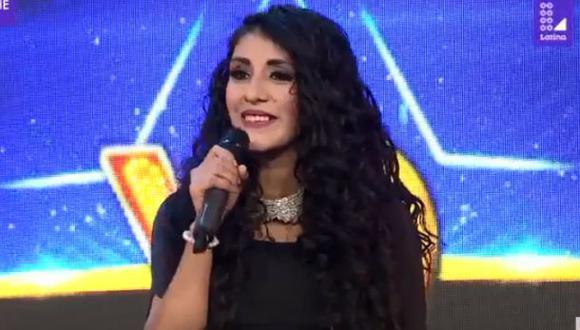 """Elita Yabar, imitadora de Amanda Miguel en """"Yo soy"""". (Captura de pantalla)"""