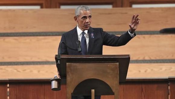 Barack Obama habló en el funeral de John Lewis, histórico activista por los derechos civiles de Estados Unidos. (EPA).