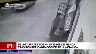 SJL: delincuentes roban más de 13 mil soles en tienda de abarrotes