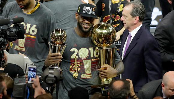 LeBron James lideró a los Cavaliers a su primer y único título de la NBA | Foto: AFP
