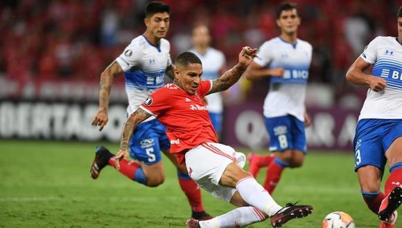 Paolo Guerrero marcó doblete en Inter vs U. Católica por Copa Libertadores. (Foto: Agencias)