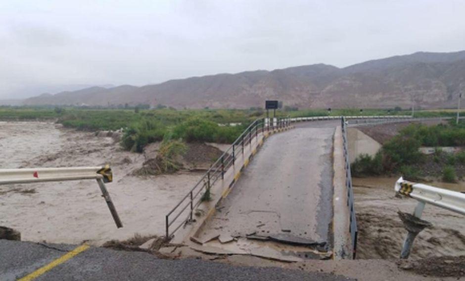 Esta tarde se registró la caída de un huaico en el distrito de Ilabaya en la provincia de Jorge Basadre, en la región de Tacna.  (Foto: Radio Uno)