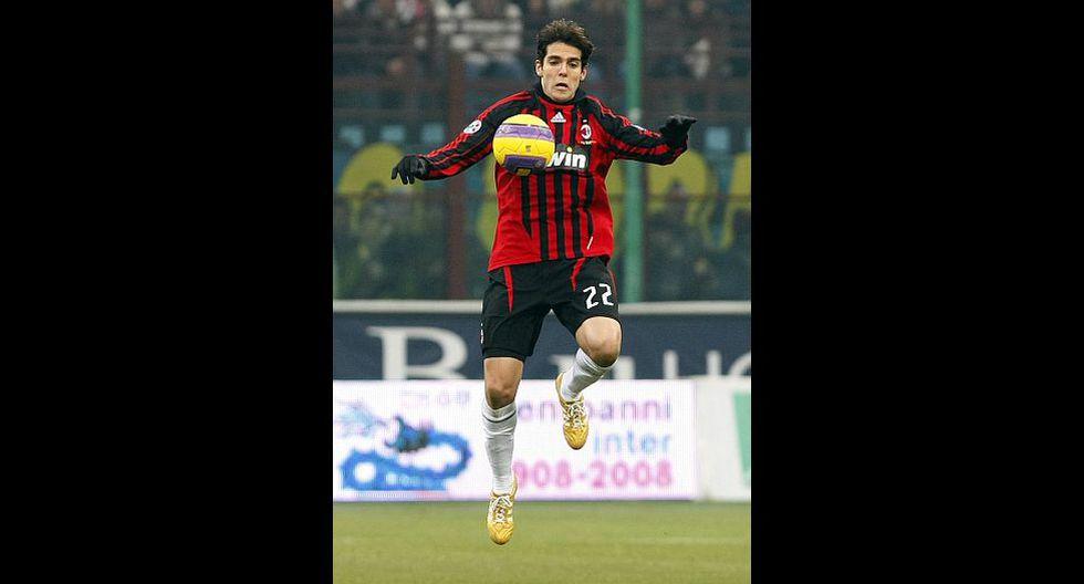2.- Kaká (AC Milan), en en 75.4 millones de dólares. (Foto: Agencias)