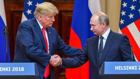 Segunda cumbre entre Donald Trump y Vladimir Putin será en París el 11 de noviembre. (AFP)