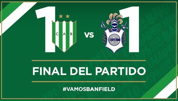 Banfield y Gimnasia empataron 1-1 por la Superliga argentina | Foto: Banfield