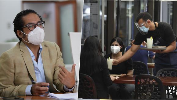 José Luis Chicoma, ministro de la Producción, remarcó que algunas municipalidades como la de Lima y Cusco han colaborado activamente para la implementación de terrazas gastronómicas en sus zonas. (Foto: Anthony Niño de Guzmán/GEC)