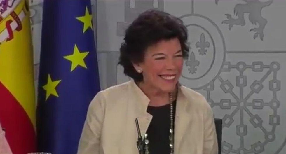 Isabel Celaá también es ministra de Educación desde junio de 2018. (YouTube)