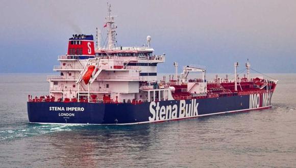 El petrolero británico Stena Impero fue interceptado por fuerzas iraníes en el estrecho de Ormuz el viernes 19 de julio. Foto: Pa Media, via BBC Mundo