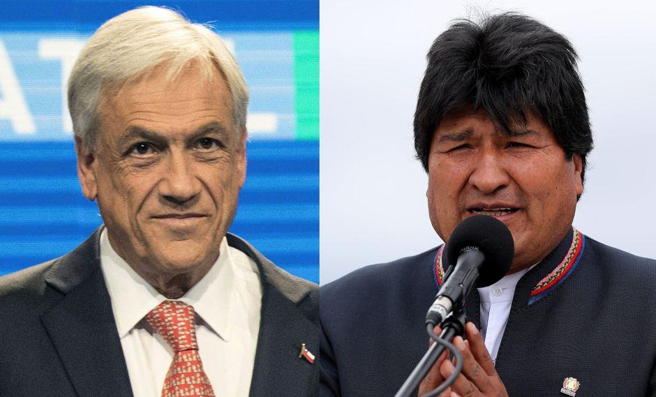 El presidente de Chile, Sebastián Piñera, y su homólogo de Bolivia, Evo Morales, se expresaron a través de Twitter. (Foto: AFP - EFE)