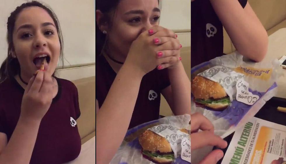 A Facebook llegó el video de un joven de México que ideó proponerle a una chica ser novios con una declaración de amor escondida en una hamburguesa. Su historia viral conmovió en redes sociales. (Foto: Captura)