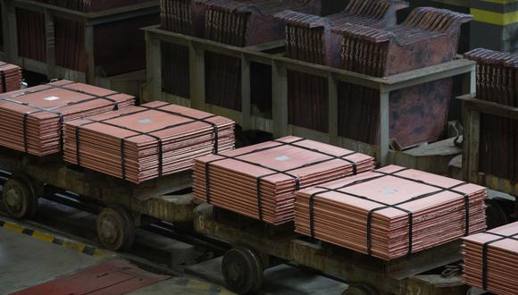 El cobre también alcanzó un récord en la Bolsa de Futuros de Shanghái. (Foto: Bloomberg)