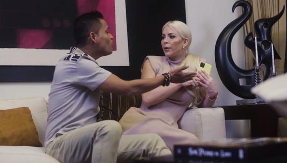 """Sheyla Rojas protagoniza el videclip de la canción """"Vamos a darnos un tiempo"""" de Renzo Padilla. (Foto: Captura de pantalla)"""