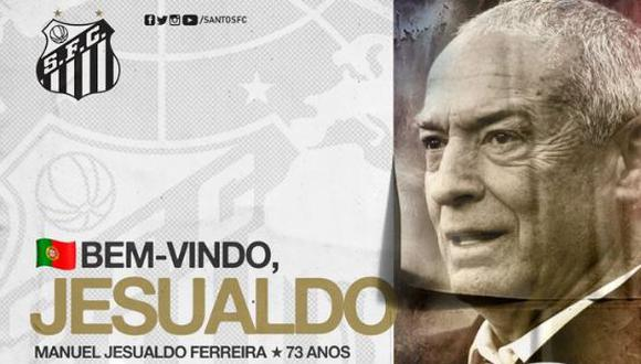 Jesualdo Ferreira, de 73 años, ocupará el cargo dejado por Jorge Sampaoli. (Foto: Santos FC)