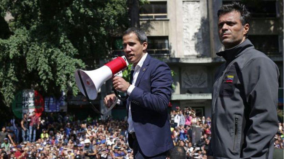Guaidó hizo un llamado a las Fuerzas Armadas a rebelarse, pero no hubo una respuesta. Foto: Getty images, vía BBC Mundo