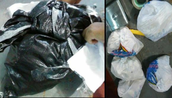 Cusco: sujetos arrojan bolsa con más de 9 kilos de cocaína para escapar de persecución policial