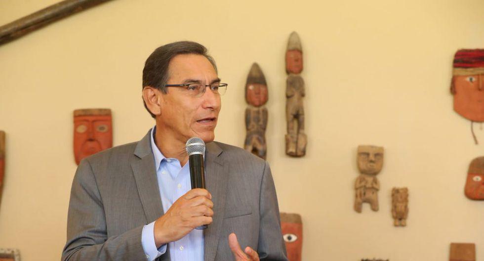 El presidente Martín Vizcarra defendió su presencia en el Congreso por el proyecto de inmunidad. (Foto: Presidencia)