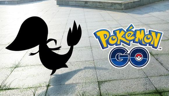 Una silueta de Snivy apareció en Pokémon GO. (Foto: Pokémon GO)