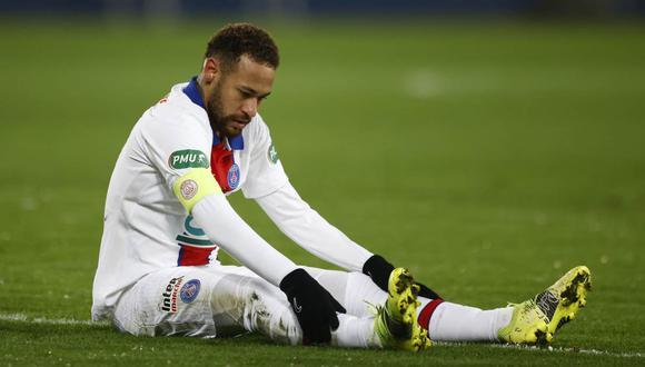 Neymar se lamentó por la nueva lesión que sufrió. (Foto: Reuters)