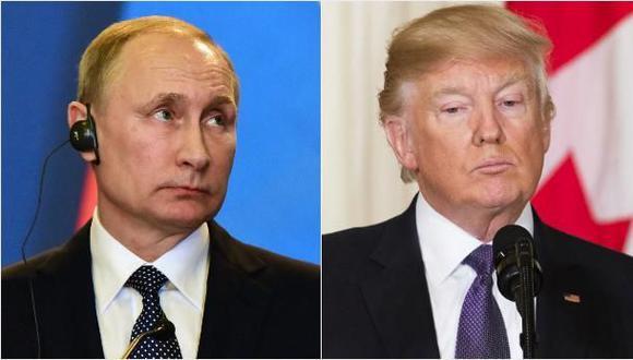 Vladimir Putin, presidente de Rusia, y su par de Estados Unidos, Donald Trump. (Foto: AFP)