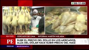 El precio del pollo sigue incrementando en los mercados mayoristas tras el alza del dólar