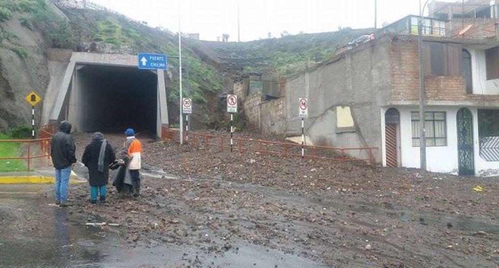 Arequipa: caída de cerro causó represamiento de río Cotahuasi