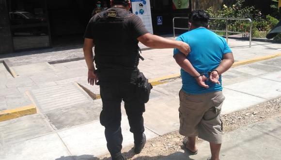 El sujeto fue llevado por la Policía a la comisaría. (Municipalidad de Pueblo Libre)