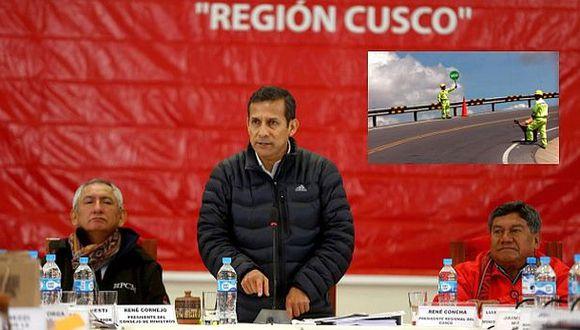 Humala anunció construcción de 1.500 km de carretera en Cusco