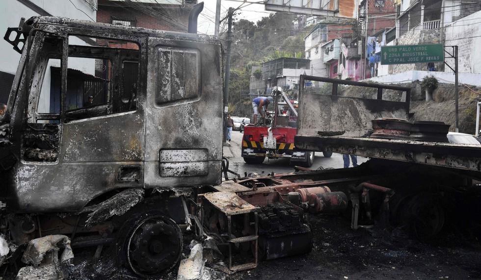 Venezuela: Así quedó Petare, el barrio más peligroso de Caracas, tras las protestas contra Nicolás Maduro. (AFP).