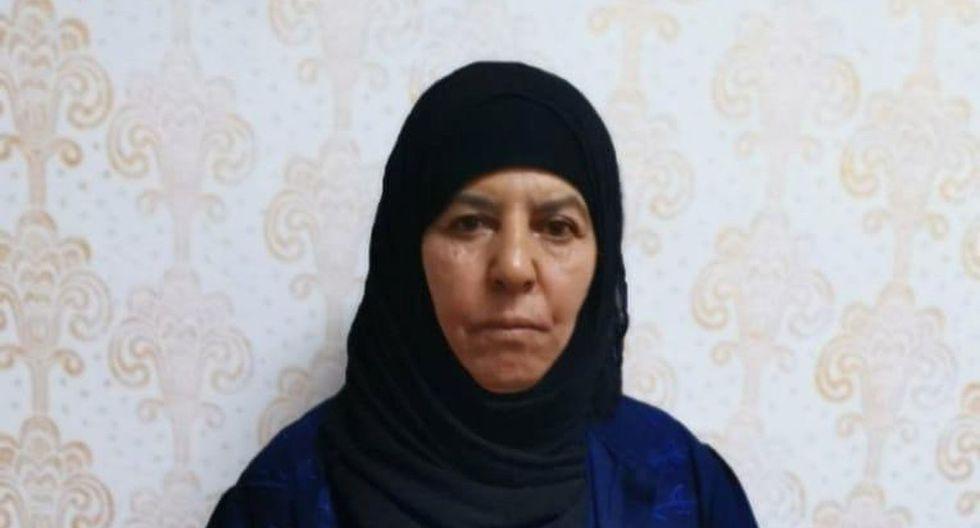 Rasmiya Awad, quien se cree que es la hermana del líder del Estado Islámico asesinado Abu Bakr al Baghdadi, fue capturada el lunes en la ciudad de Azaz, en el norte de Siria. (Foto: Reuters)