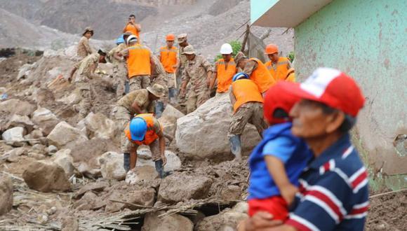 Las Fuerzas Armadas han realizado labores de limpieza en las zonas afectadas por huaicos y lluvias. (Foto: Ministerio de Defensa)