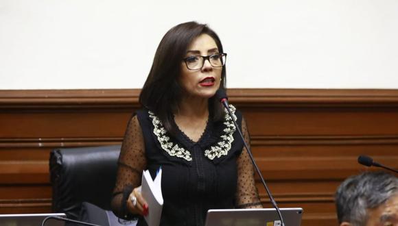 Alejandra Aramayo cuestionó el comportamiento de sus colegas en el Pleno. (Foto: Congreso)