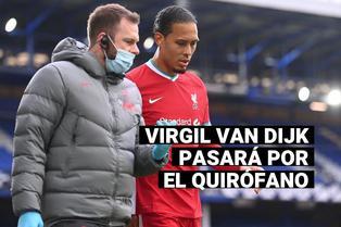 Virgil Van Dijk pasará por el quirófano y el Liverpool se queda sin su líder en defensa