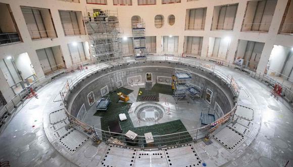 """El """"tokamak"""" en el Iter albergará la estructura donde se controlará un experimento de fusión nuclear. (Foto: AFP)"""