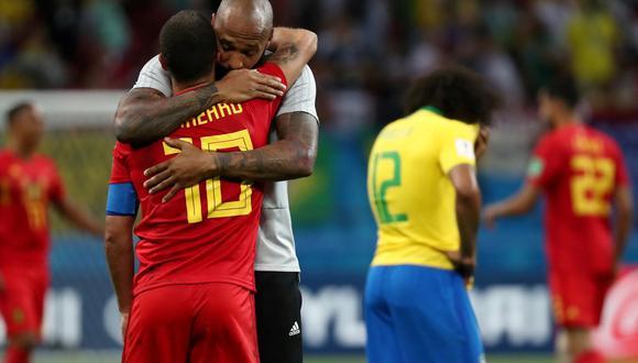 Thierry Henry fue parte del comando técnico que ayudó a que Bélgica llegue a las semifinales del Mundial Rusia 2018. El conjunto europeo fue dirigido por el español Roberto Martínez (Foto: AFP)