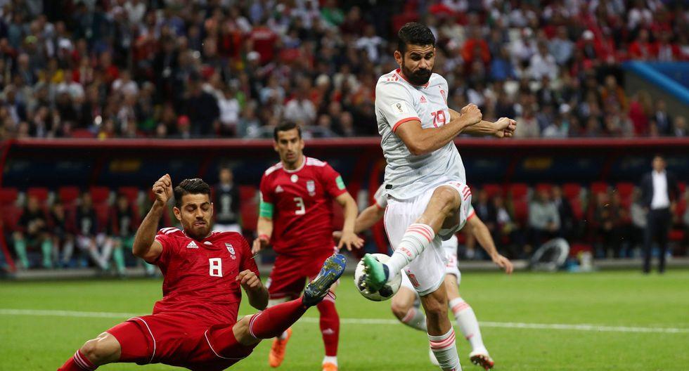 Diego Costa abrió el marcador del España vs. Irán. (Foto: Reuters)