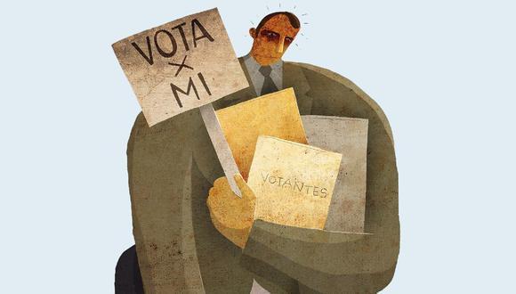 Los candidatos que canalizan más el rechazo a Sagasti son López Aliaga, Lescano y Fujimori. (Ilustración: El Comercio)