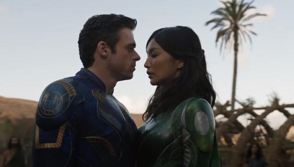 "Richard Madden y Gemma Chan en el primer teaser tráiler de ""Eternals"". Foto: Marvel Studios."