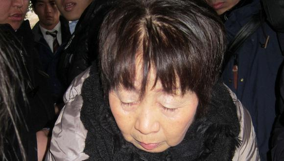 """Chisako Kakehi, quien actualmente tiene 70 años y ha sido bautizada por la prensa de Japón como la """"viuda negra"""", fue arrestada en 2014 en la ciudad de Kioto. (Foto: AFP)"""