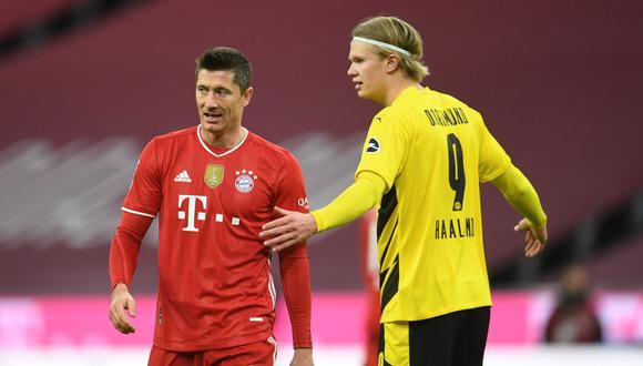 Bayern Múnich y Borussia Dortmund son los equipos más fuertes de la Liga de Alemania. Ahí juegan dos cracks como Robert Lewandowski y Erling Haaland | Foto: REUTERS