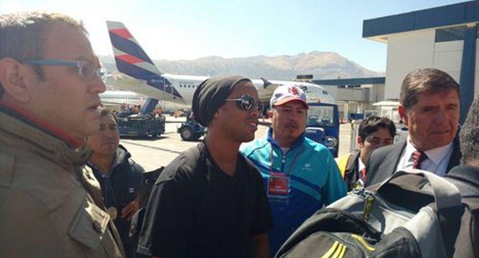 Ronaldinho llegó a Cusco en medio de gran expectativa [FOTOS] - 6