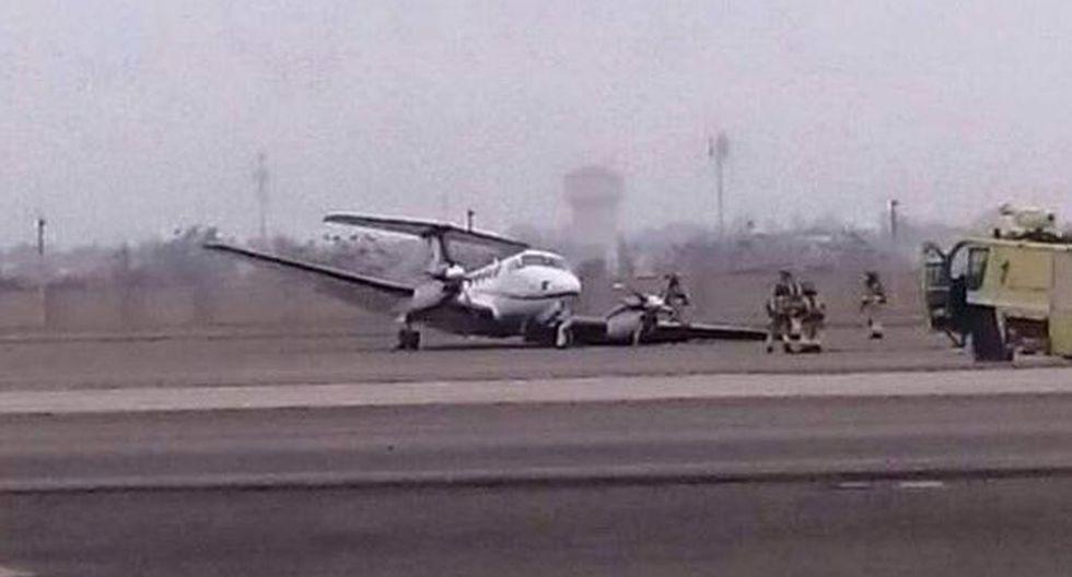 Jorge Chávez: cerraron pista hora y media por falla en aeronave - 1