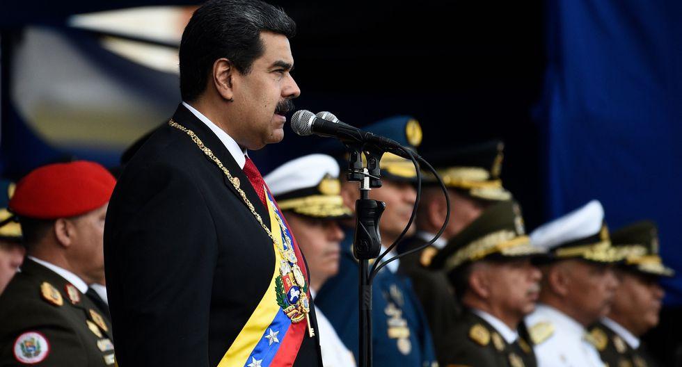 """Toma de posesión de Nicolás Maduro en Venezuela: Fuerza Armada jura lealtad """"absoluta"""" al presidente. (AFP)."""