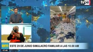 Sismo en Lima: Indeci programa este 29 de junio un simulacro familiar