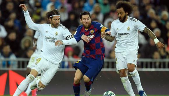 Barcelona y Real Madrid se volverán a ver las caras en abril del 2021. (Foto: AFP)