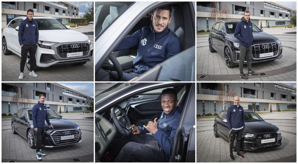 Los autos de los jugadores del Real Madrid. (Fotos: Audi)